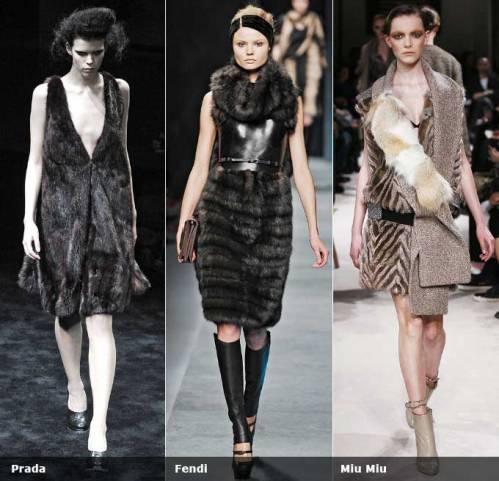 Для самых смелых дизайнеры предлагают платья, полностью сшитые из меха.
